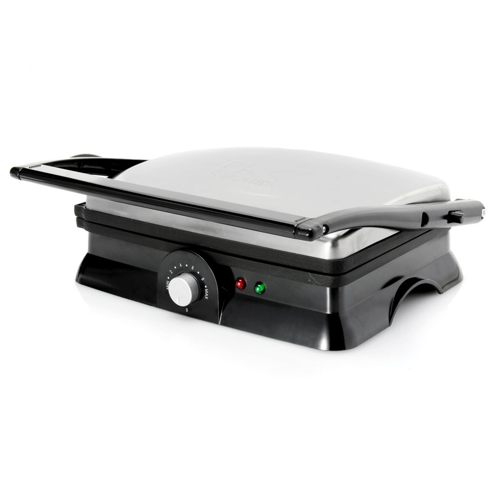 449-324 - Kalorik® 1400W 2-in-1 Nonstick Stainless Steel Grill / Panini Maker