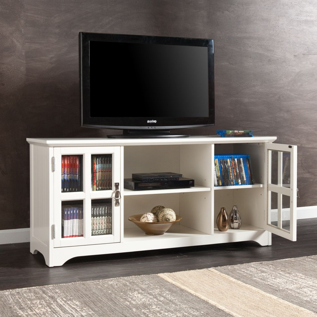 449-418 - NeuBold Home Berlin Wood & Glass TV / Media Stand
