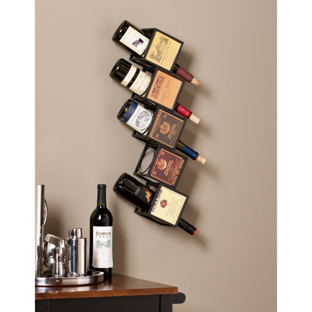 449-422 - NeuBold Home Franklin Metal & Wine Label Wall Mount Wine Rack