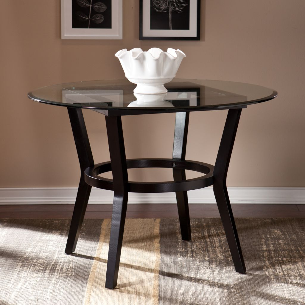 449-426 - NeuBold Home Fairbury Wood & Beveled Tempered Glass Dining Table
