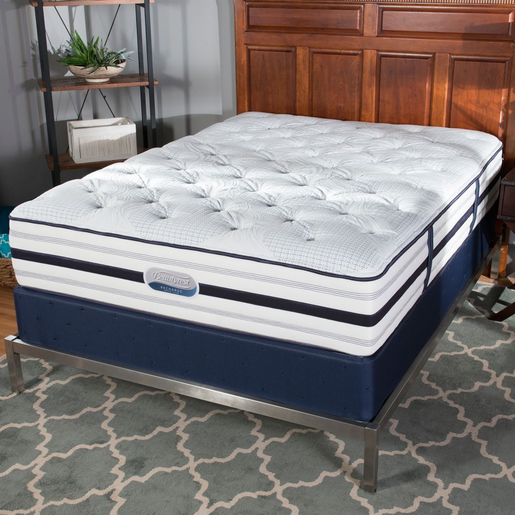 "449-484 - Simmons® Beautyrest® Recharge® ""Romeo"" Tight Top Plush Mattress Set"