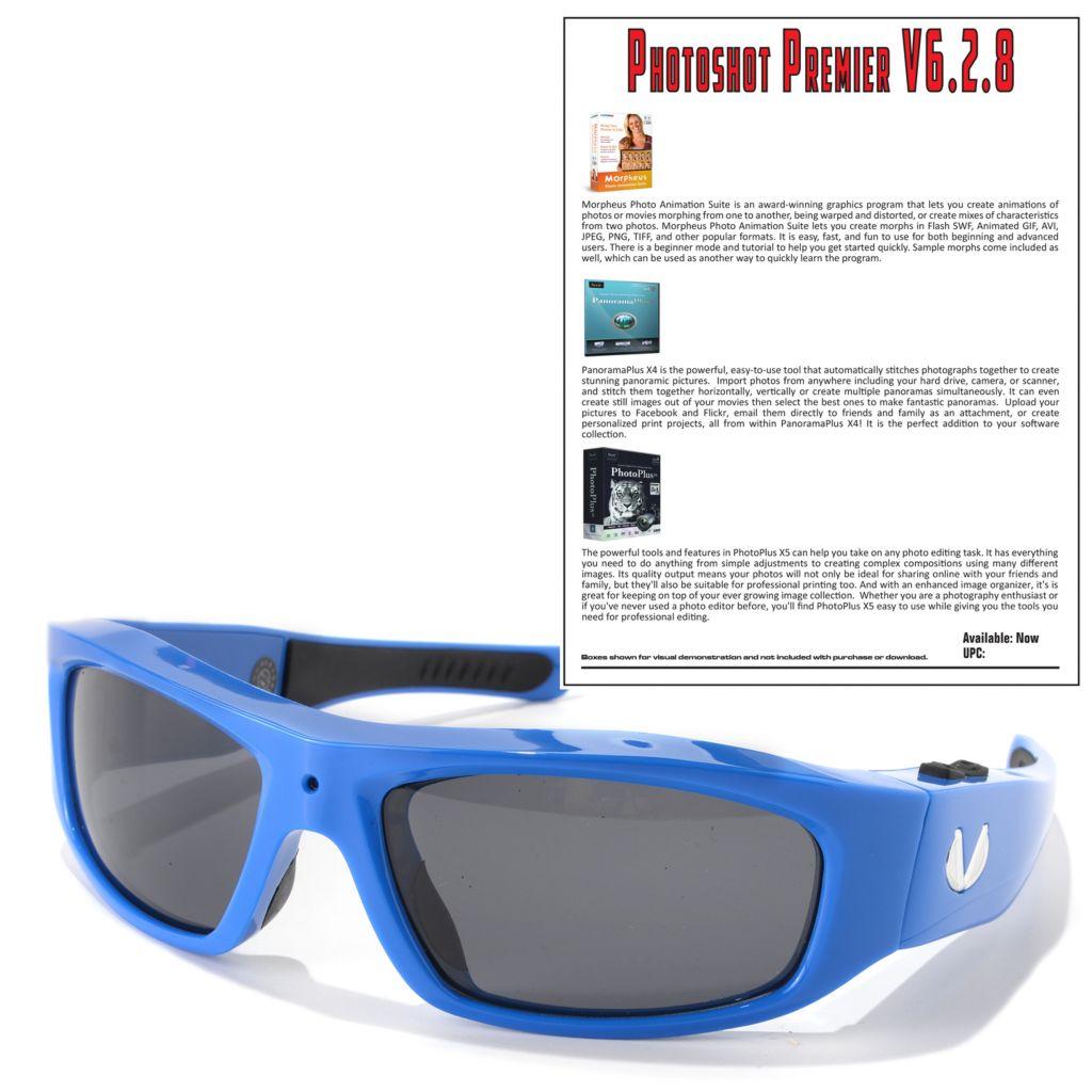 449-494 - Vidvision Polarized Sport Sunglasses w/ Built-in 5MP Video Camera &Software