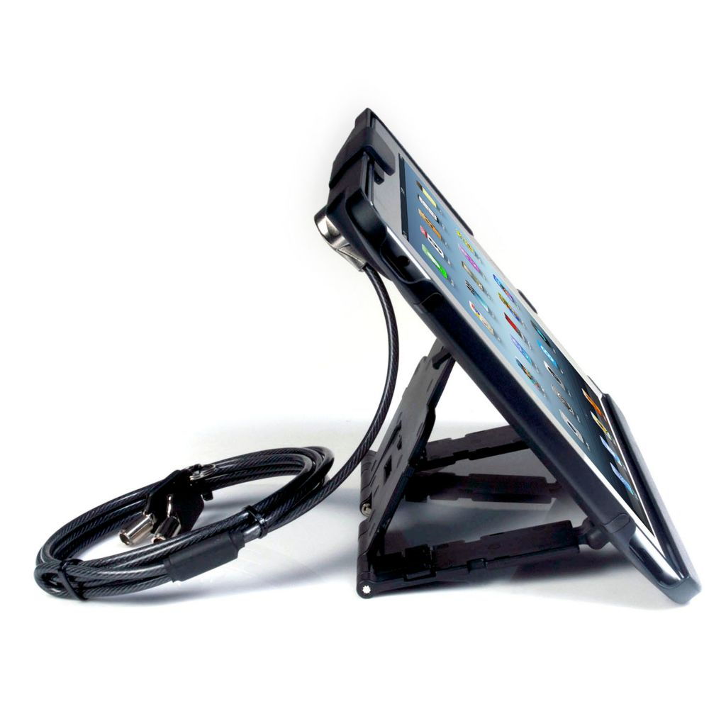 449-499 - Anti-Theft Case w/ Security Cable Lock & Built-in Stand for iPad®