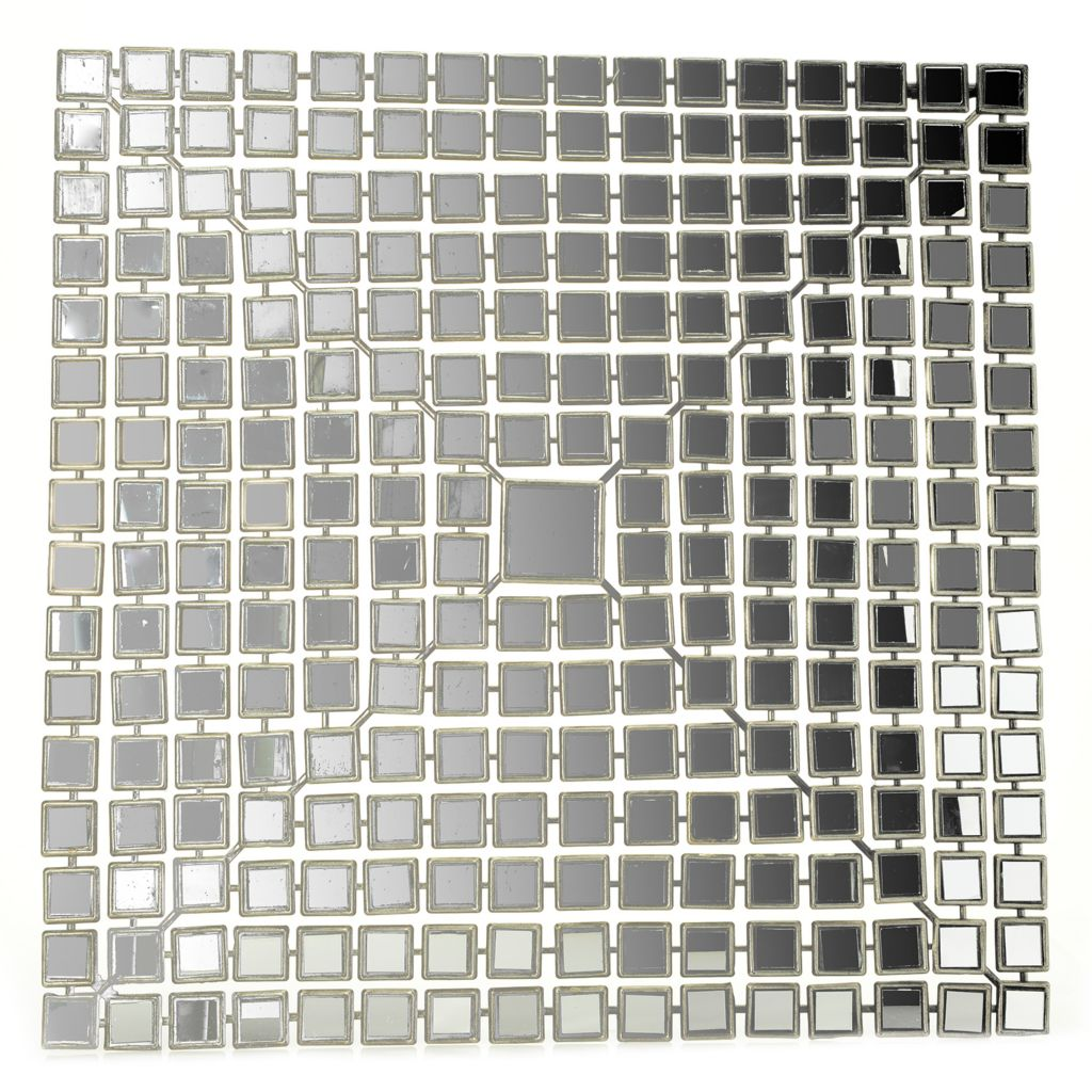 "449-502 - Style at Home with Margie 22"" Glass Mirrored Diamond Wall Decor"