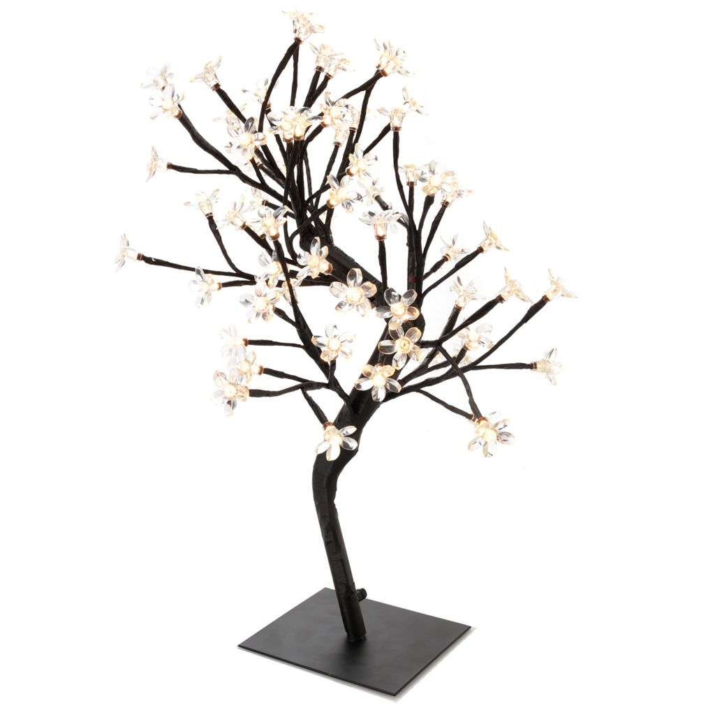 "449-503 - Style at Home with Margie 20"" Blooming Lights LED Cherry Tree Accent Lamp"