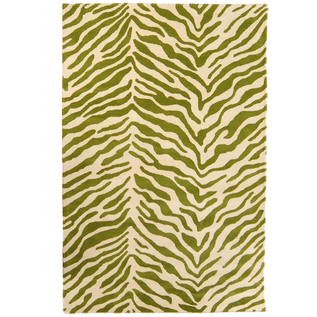 449-521 - Style at Home with Margie 5' x 8' Tiger Print Hand-Tufted 100% Wool Rug