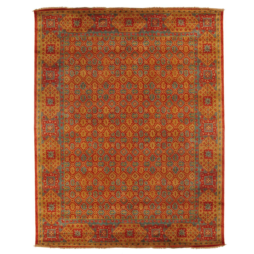 449-522 - Style at Home with Margie 8' x 10' Mamluk-Style 100% Wool Rug