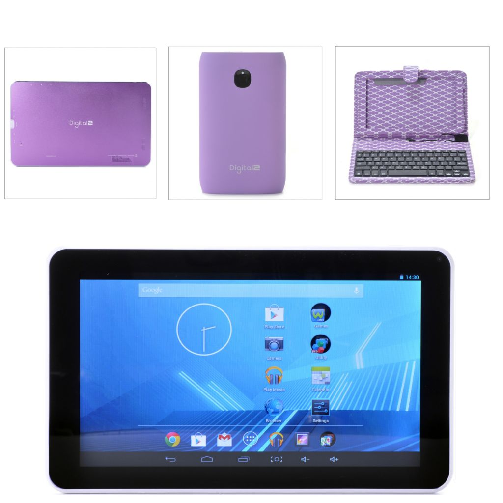 "449-559 - D2™ 9"" Android™ 4.2 Google Certified Quad-Core Wi-Fi Tablet w/ Case & 7800mAh Battery"