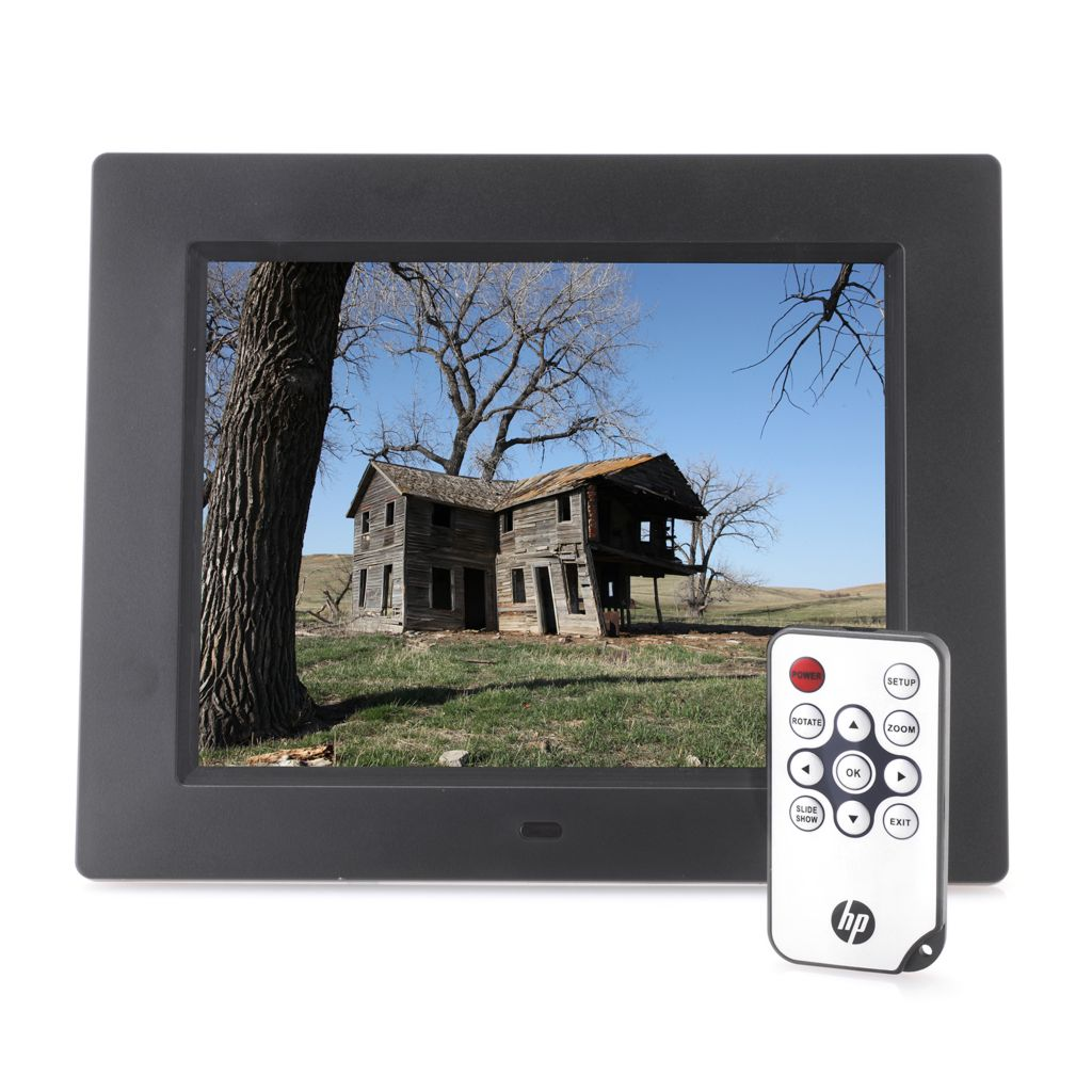 "449-590 - HP 8"" LCD Digital Picture Frame w/ Remote Control"