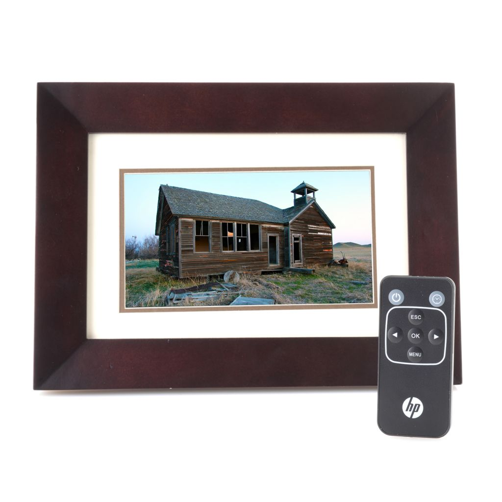 "449-591 - HP 7"" LCD Digital Picture Frame w/ Remote Control"