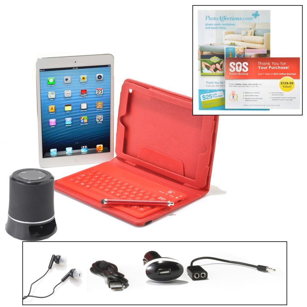 449-612 - Apple® iPad Mini 16GB Wi-Fi Tablet w/ Bluetooth® Keyboard & Accessories