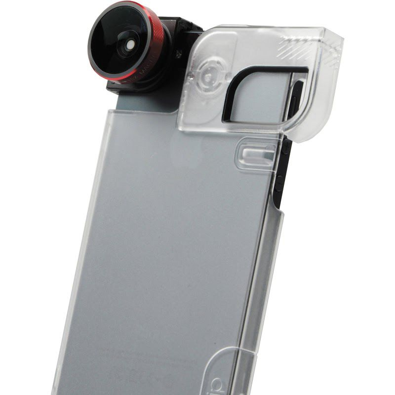 449-636 - Olloclip 4-in-1 Lens w/ Clear Case Combo for iPhone 5 & 5S