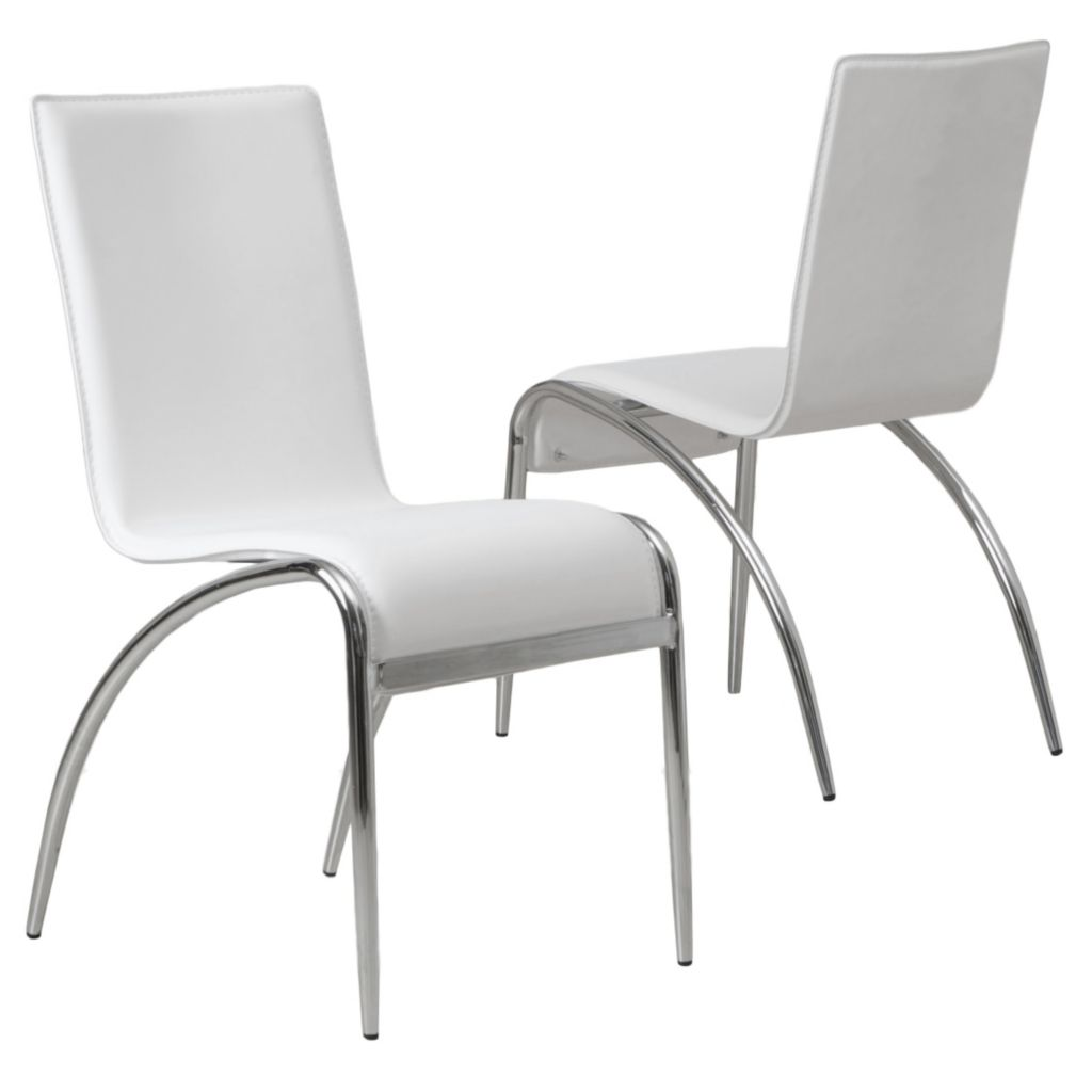 "449-713 - Christopher Knight Home™ 35"" Set of Two Modern White Chairs"