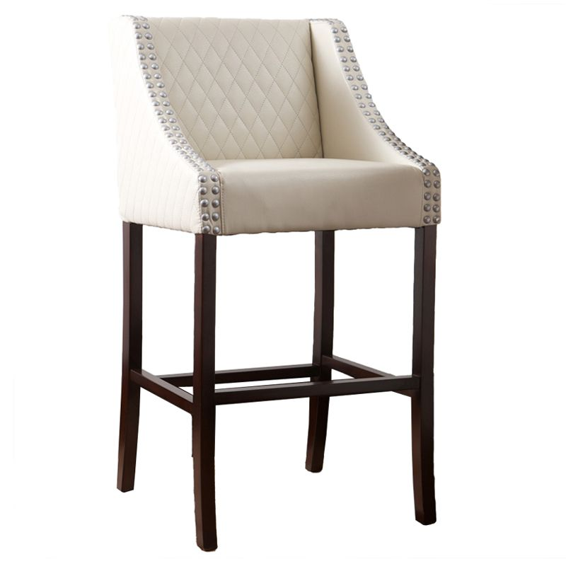 "449-717 - Christopher Knight Home™ 41"" White Quilted Leather Bar Stool"