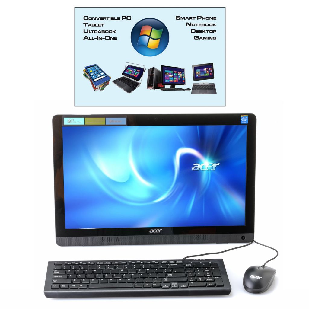 "449-746 - Acer Aspire 19.5"" 4GB RAM/500GB HDD 2.0GHz Windows® 8.1 All-in-One PC w/ Software"