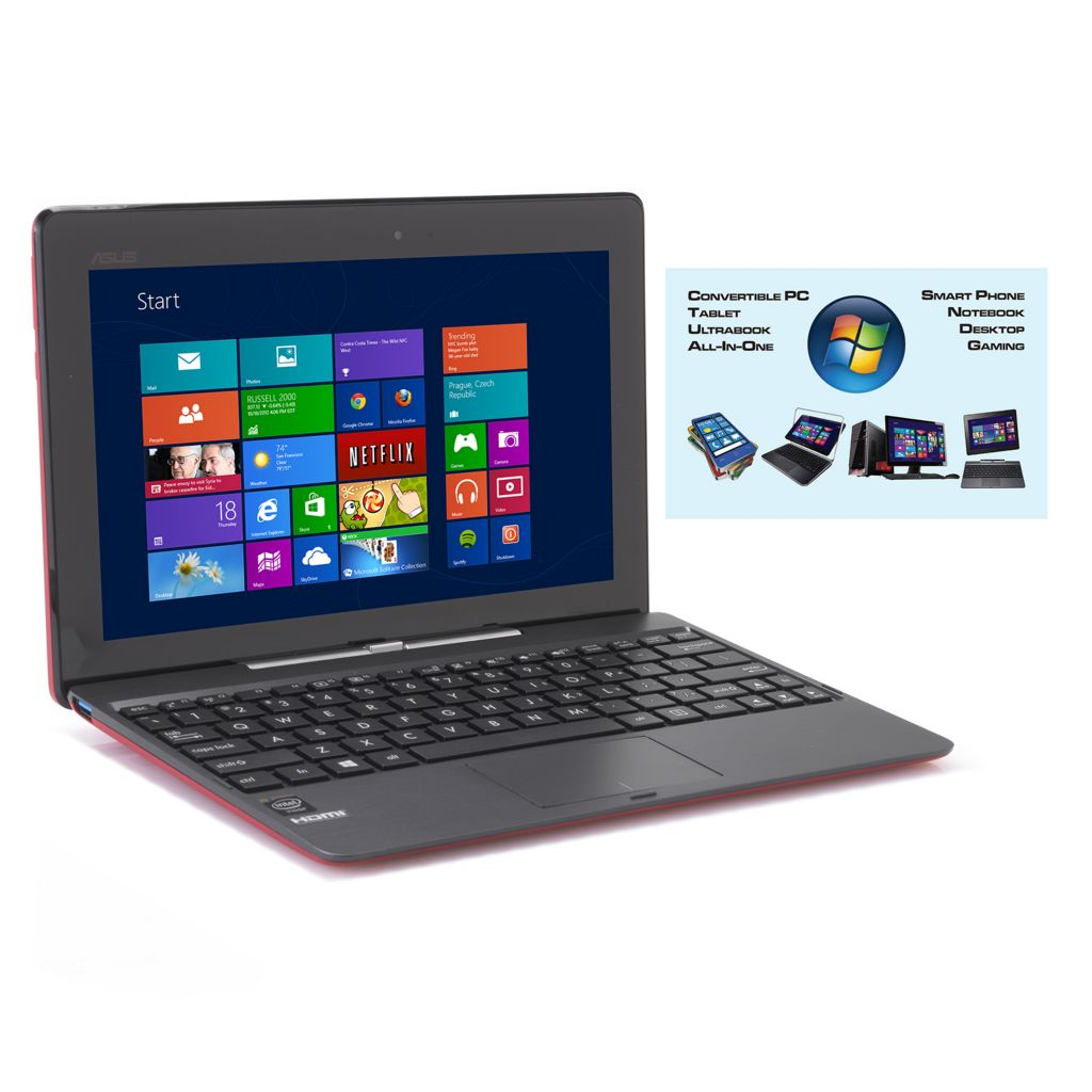 "449-859 - ASUS 10.1"" LED Touch Screen 64GB Windows® 8.1 Transformer Book w/ Software"