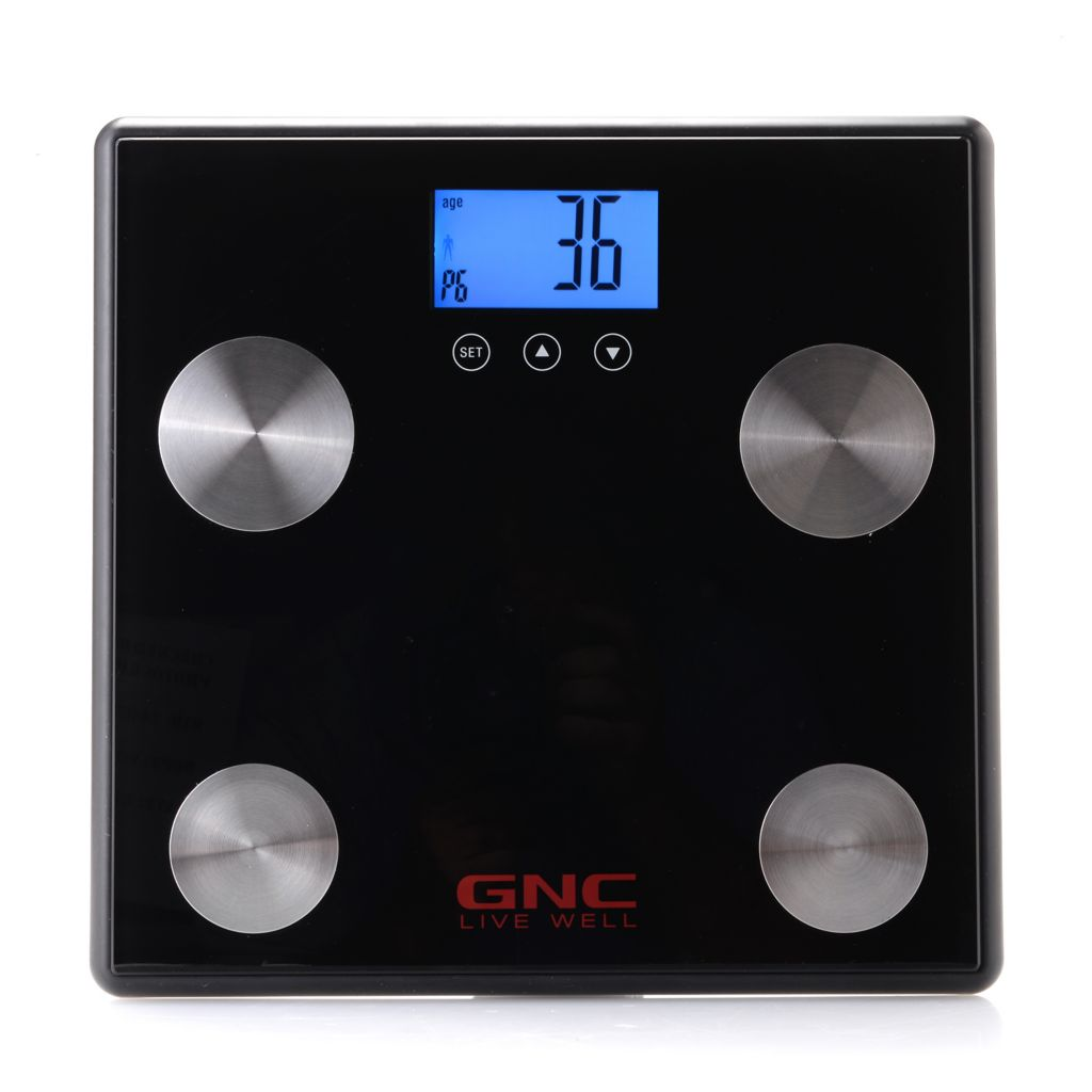 449-862 - GNC Total Health Bluetooth® Digital Body Analysis Scale w/ LCD Backlit Display