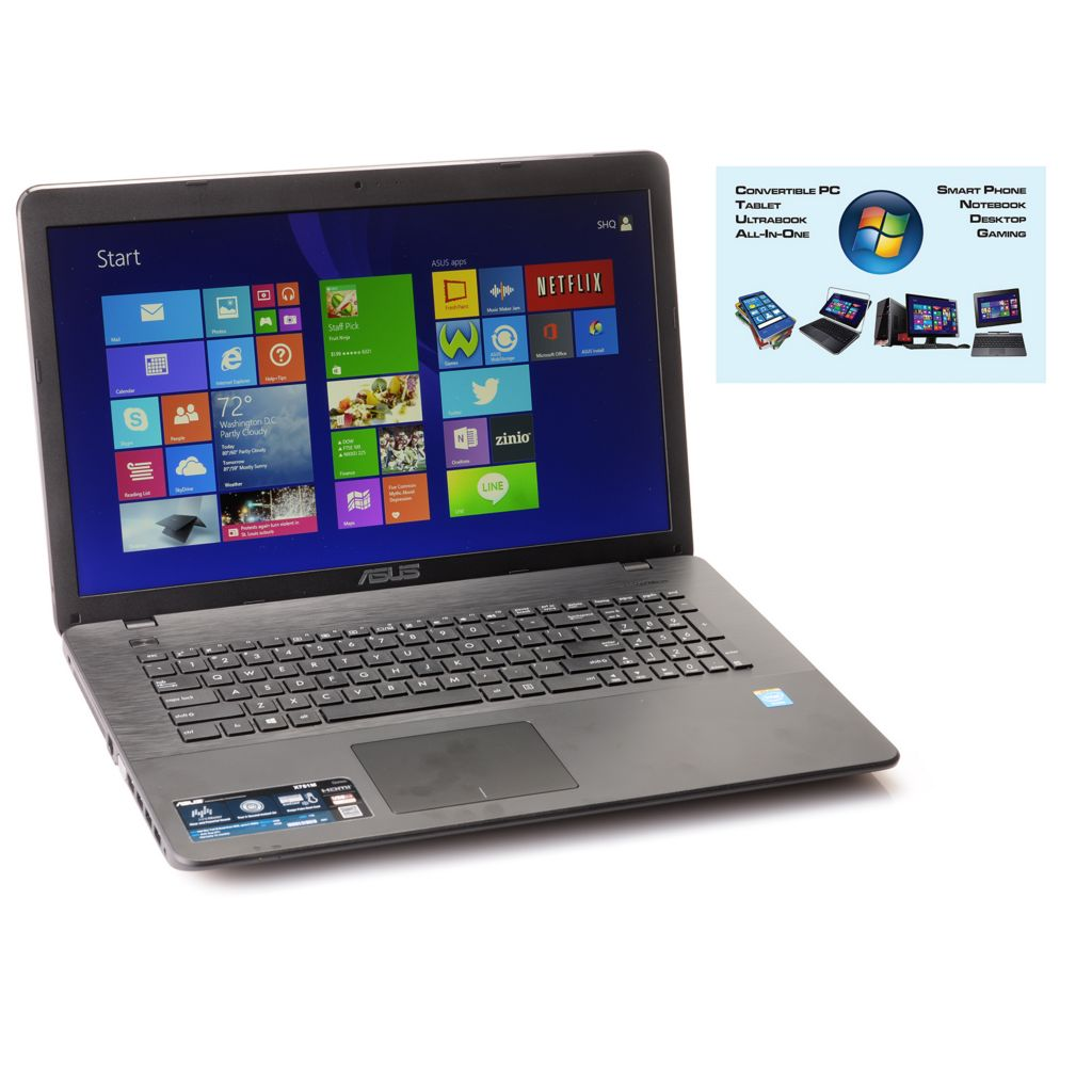 "449-875 - ASUS 17.3"" HD Intel® Quad-Core 8GB RAM/1TB HDD Notebook w/ ADP & Tech Support"