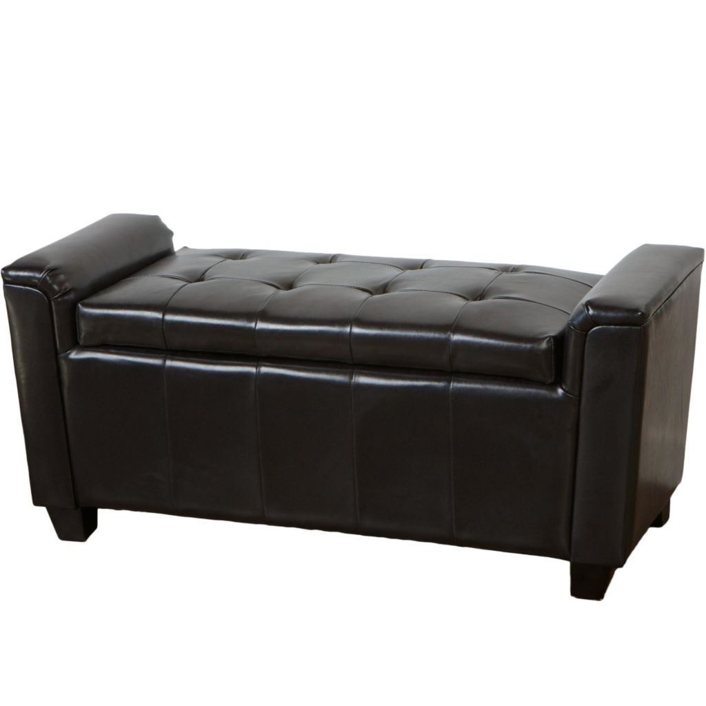 449-938 - Christopher Knight Home™ Tufted Espresso Leather Storage Ottoman