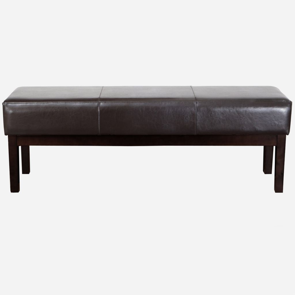 449-942 - Christopher Knight Home™ Brown Leather Ottoman Bench