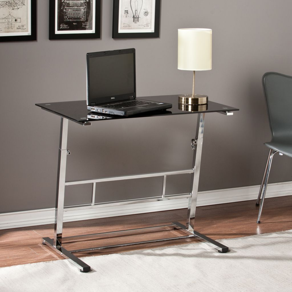 449-982 - NeuBold Home Metal & Glass Adjustable Height Desk