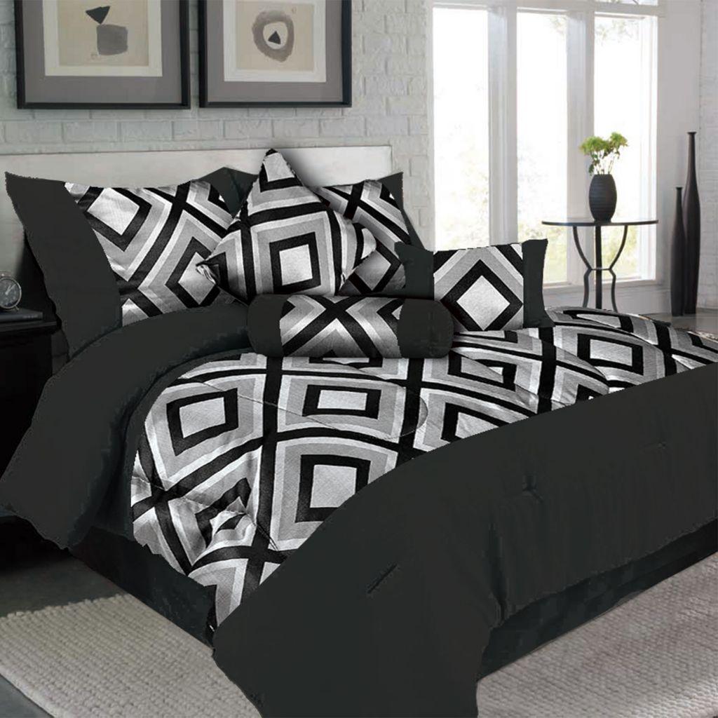 450-015 - Lavish Home Barcelona Seven-Piece Comforter Set