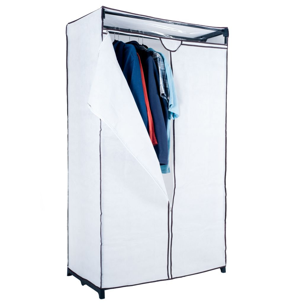 """450-023 - Trademark Home 63"""" Canvas Portable Closet w/ Clear Viewing Window"""