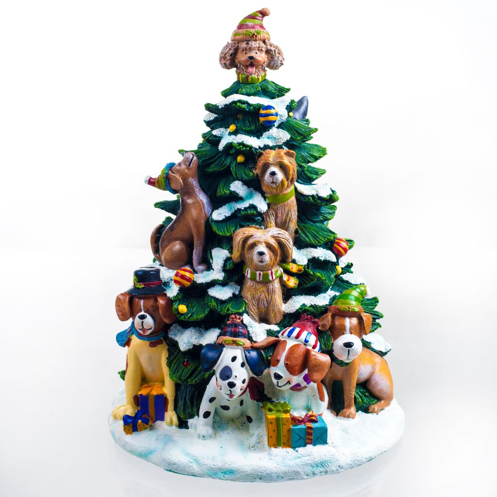 450-038 - San Francisco Music Box Factory Holiday Lighted Tree Figurine