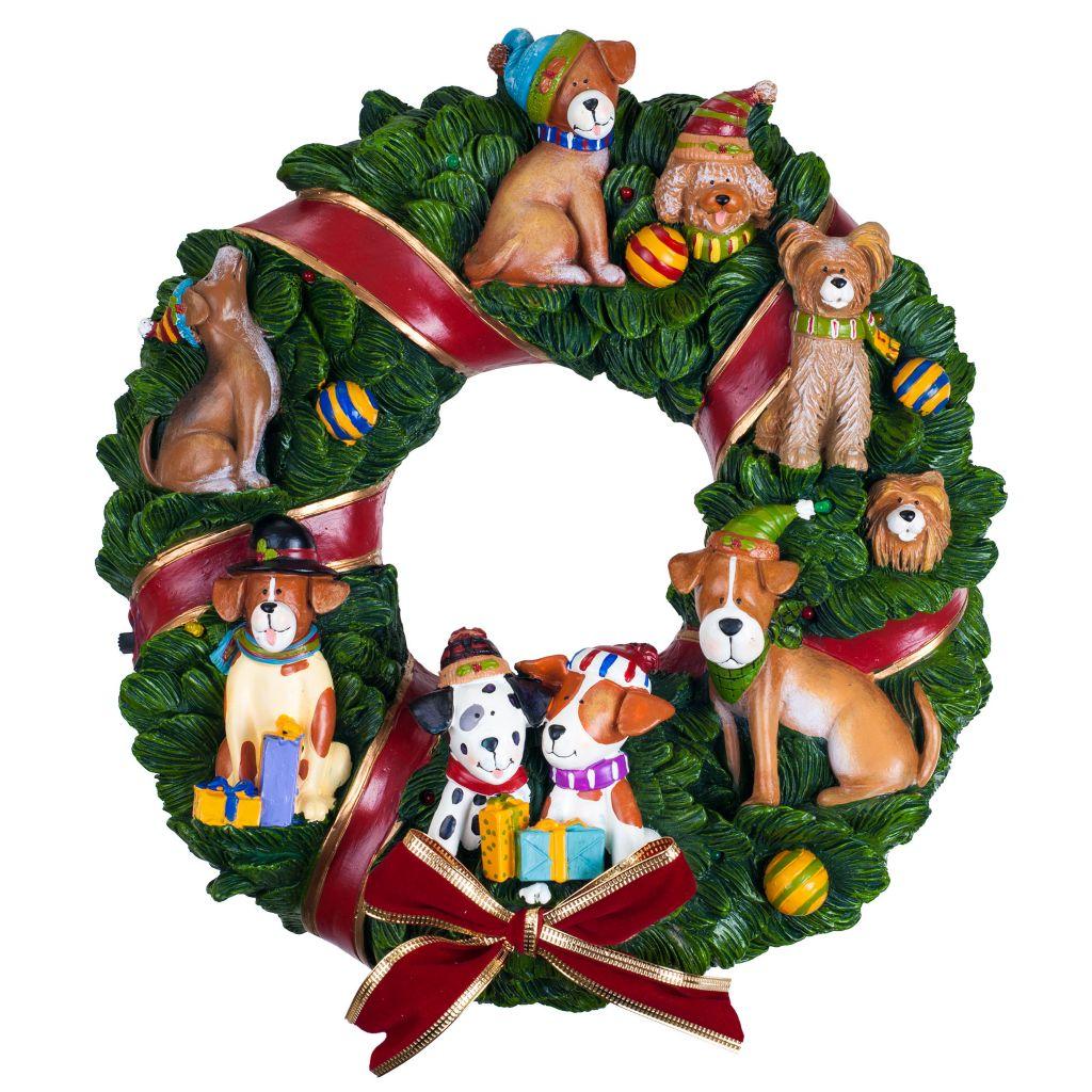 450-044 - San Francisco Music Box Factory Holiday Musical Wreath