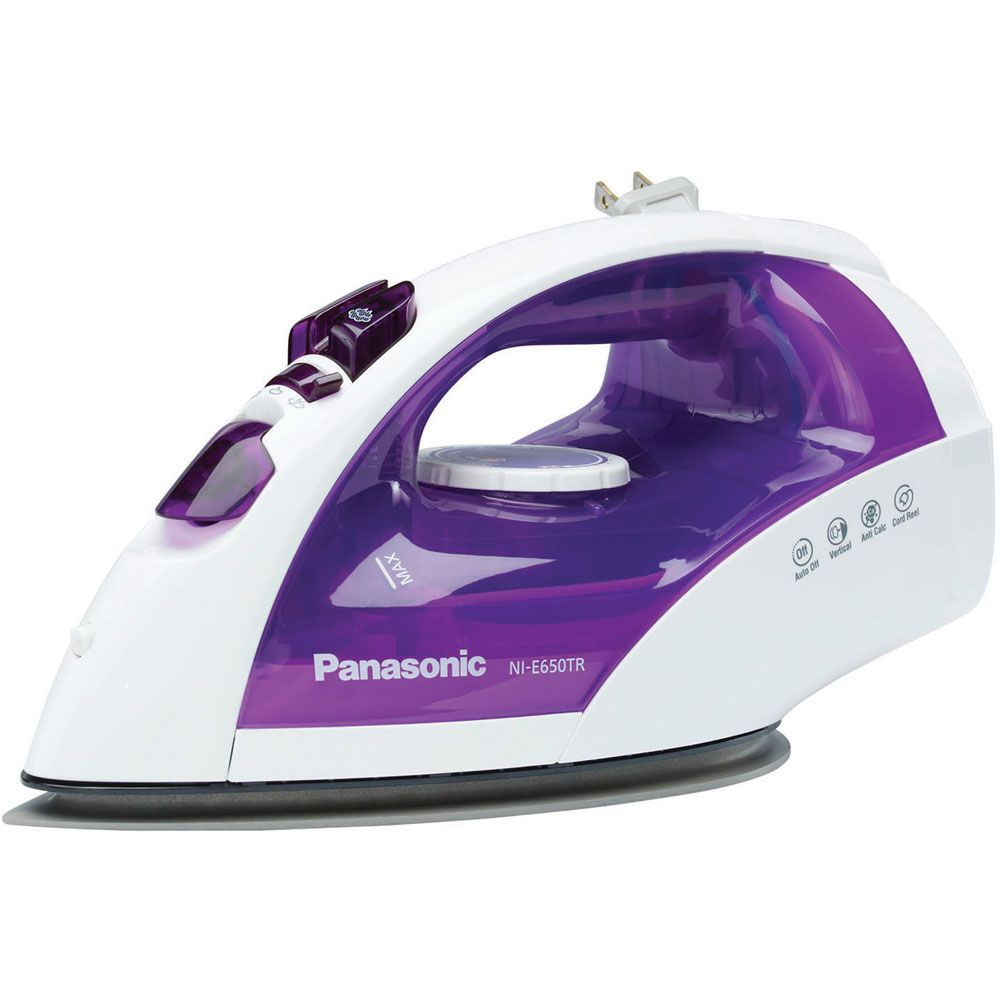 450-046 - Panasonic 1200W Steam Iron w/ Titanium Curved Soleplate & Retractable Cord Reel