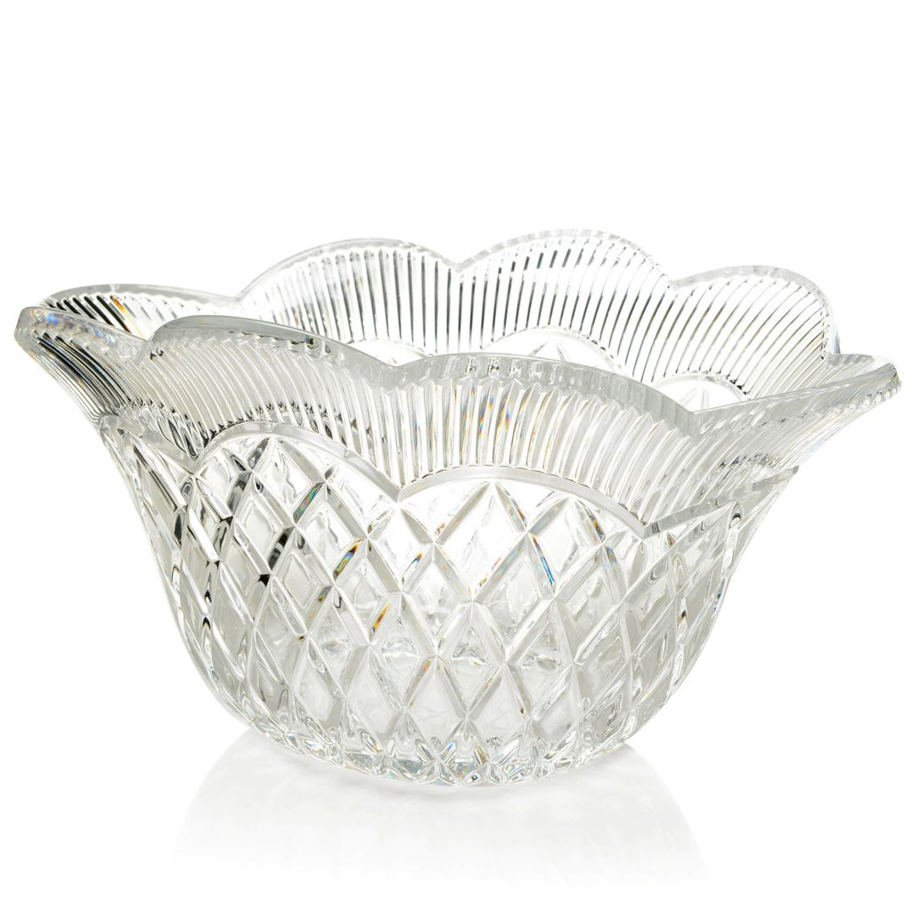 "450-103 - Marquis® by Waterford® Basket Weave Crystal 11"" Vase or 11.5"" Bowl"
