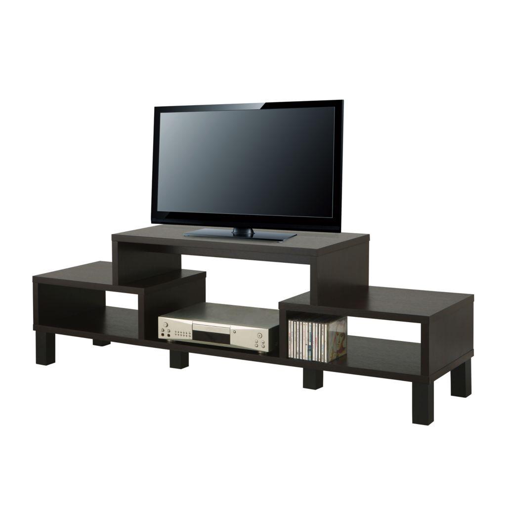 """450-123 - Furniture of America™ 60"""" Fairbanks Cappuccino Finish TV Console"""