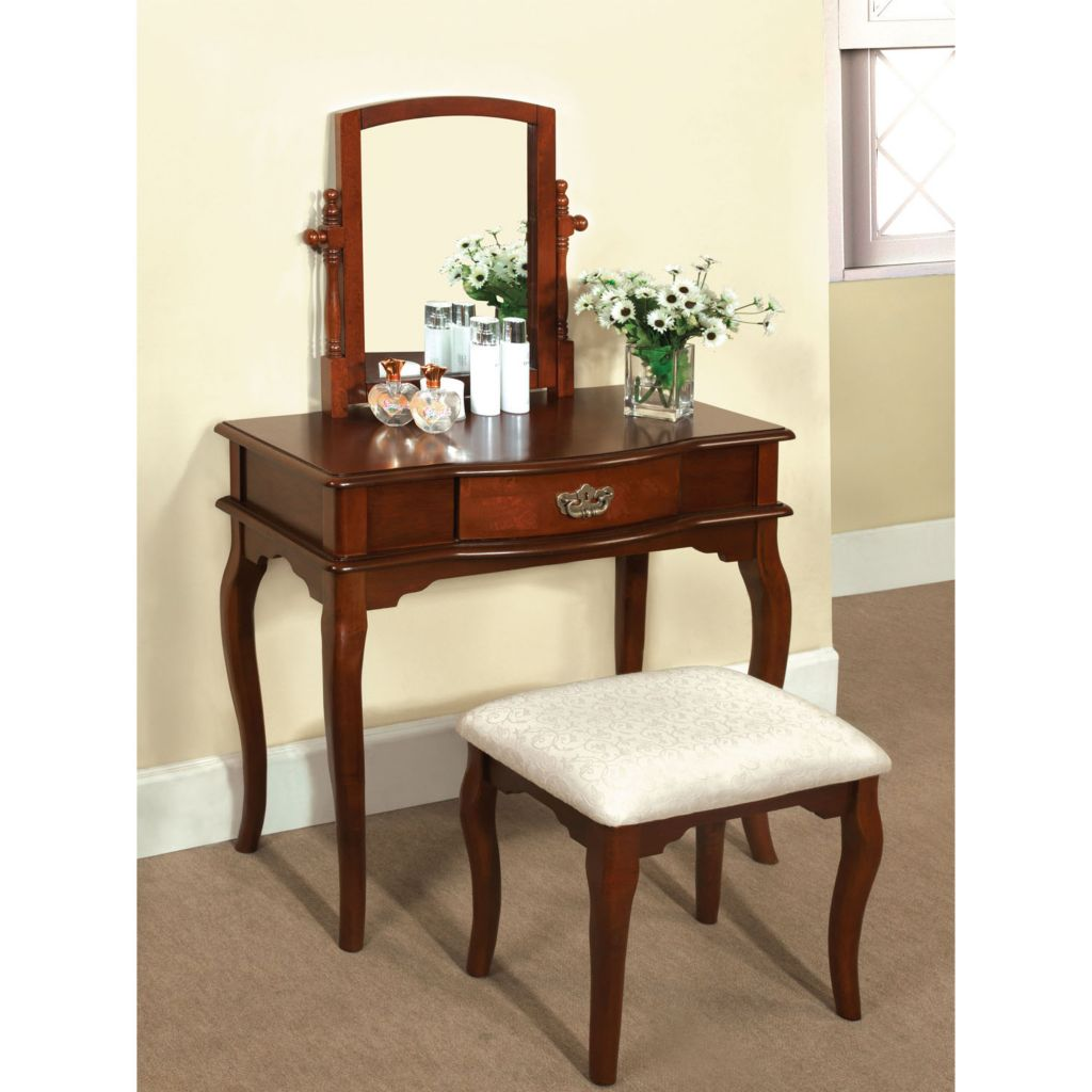 450-126 - Furniture of America™ Traditional Style Two-Piece Vanity & Stool Set