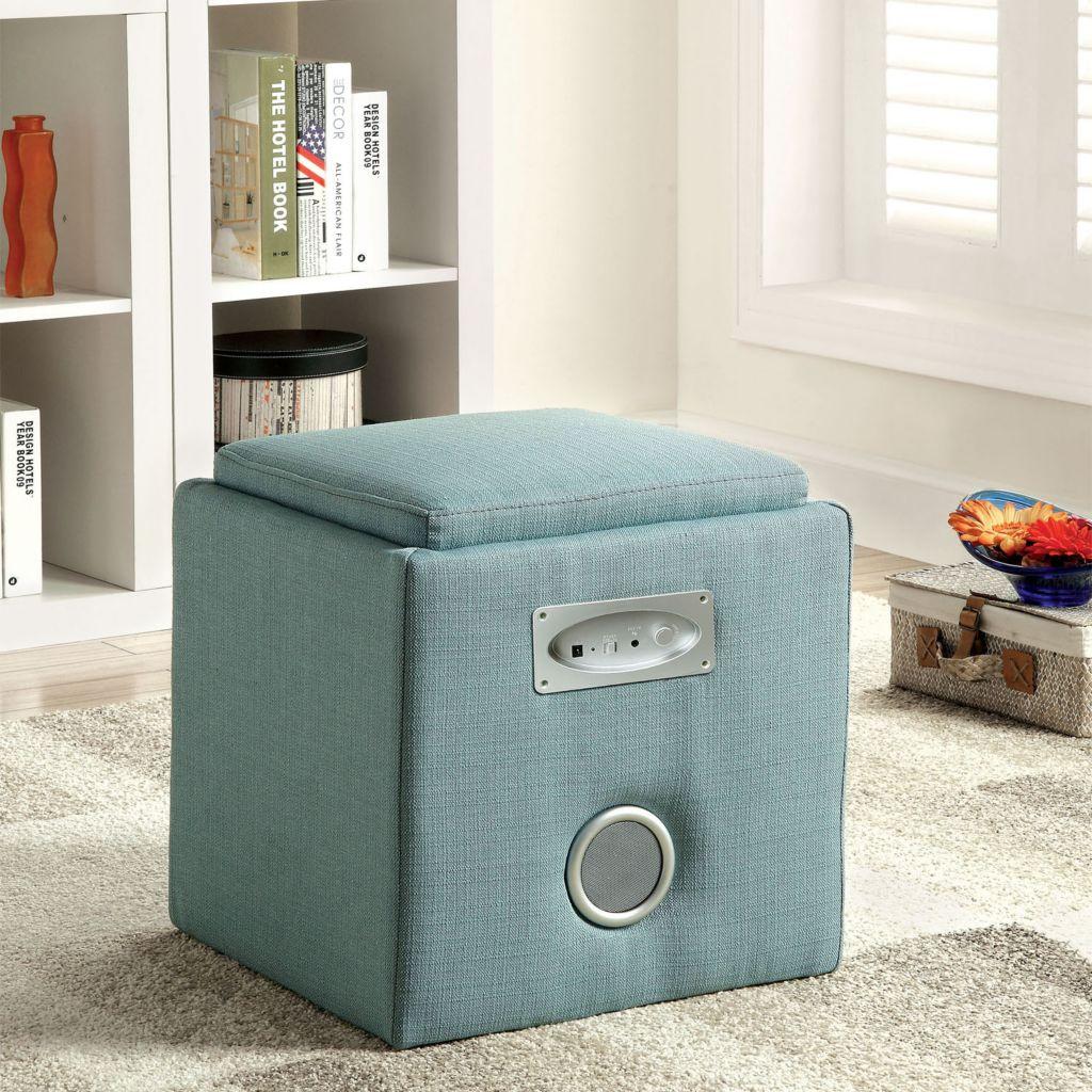450-128 - Furniture of America™ Cube Ottoman w/ Bluetooth® Speaker