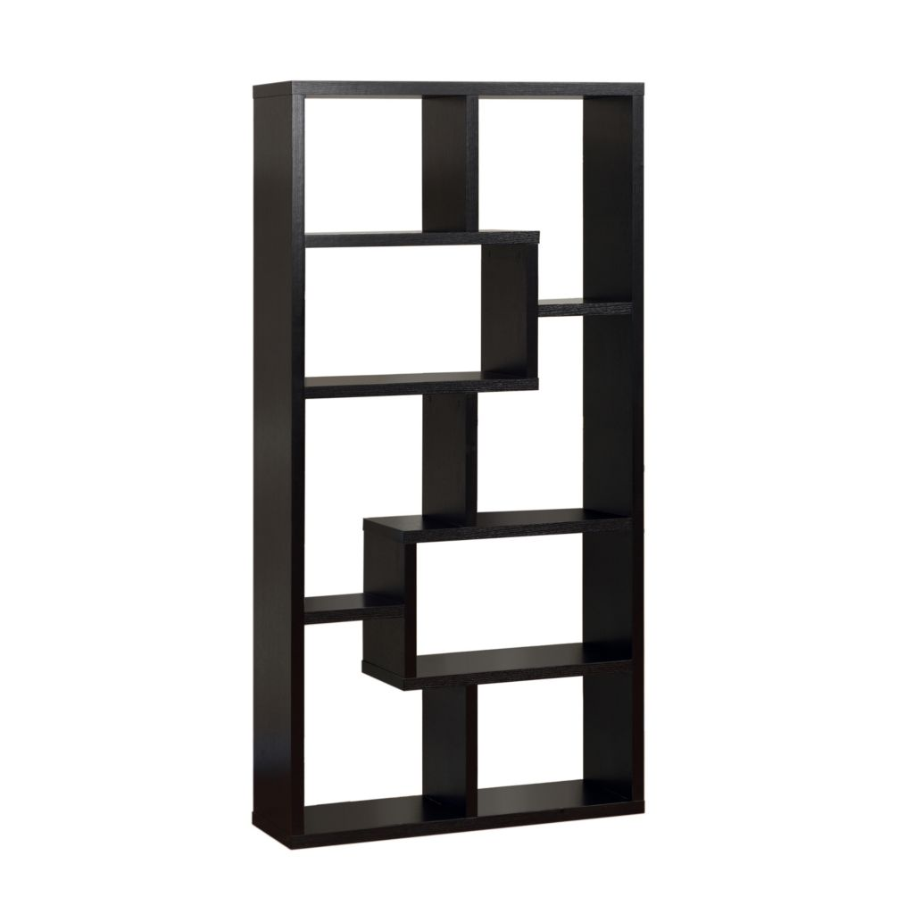 "450-148 - Furniture of America™ 71"" Graham Asymmetrical Shelves Display Case"