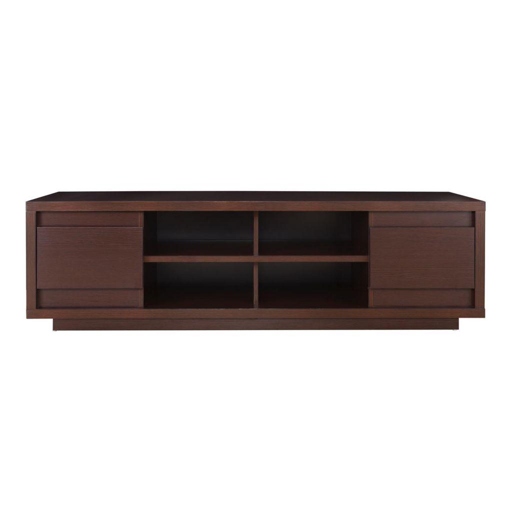 "450-152 - Furniture of America™ 71"" Walnut Finish Entertainment Cabinet"