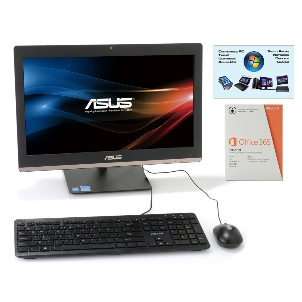 "450-250 - ASUS 19.5"" LED 4GB RAM/500GB HDD Windows® 8.1 All-in-One PC w/ MS Office"