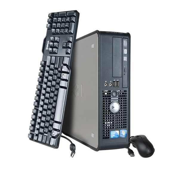 450-301 - Dell Intel 2.8GHz or 3Ghz Core 2 Duo 160GB Windows 7 Desktop Computer- Refurbished