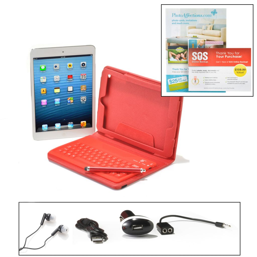 450-319 - Apple® iPad Mini 16GB Wi-Fi Tablet w/ Bluetooth® Keyboard & Accessories