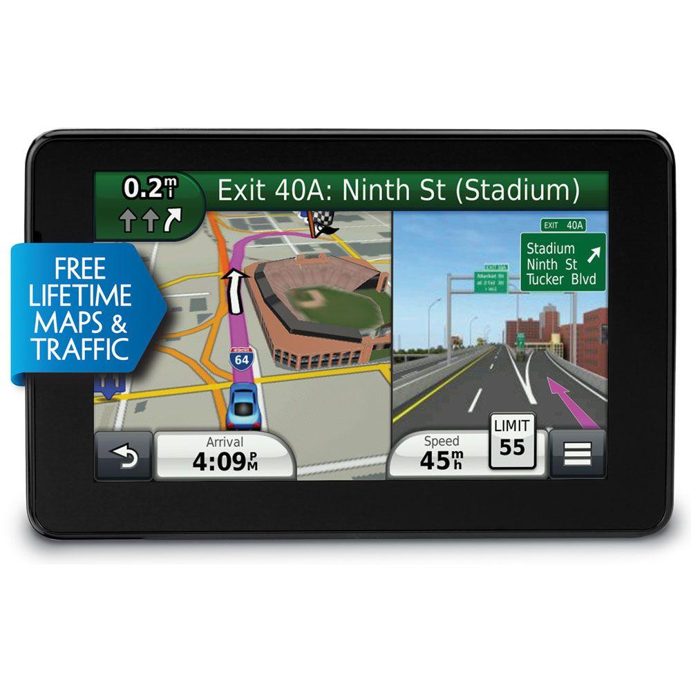 "450-347 - Garmin nüvi 5"" GPS w/ Free Lifetime Traffic and Map Updates - Refurbished"