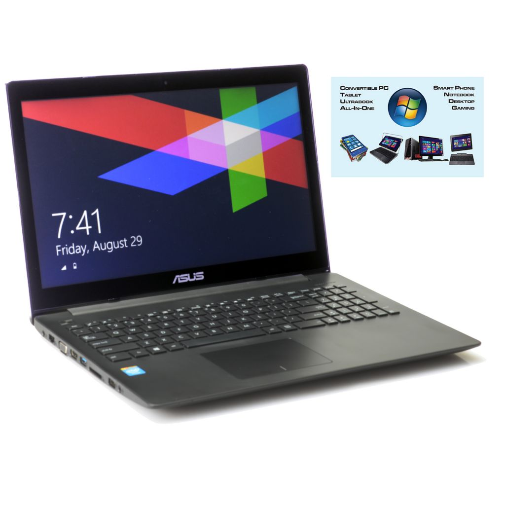 """450-377 - ASUS 15.6"""" LED Touch Screen 4GB RAM/500GB HDD Notebook w/ ADP & Software"""