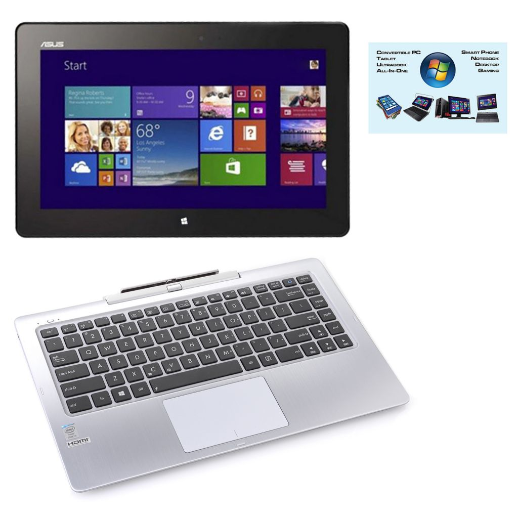 "450-379 - ASUS 13"" Touch Screen Intel® i3 4GB RAM/64GB SSD Transformer Book w/ Software"