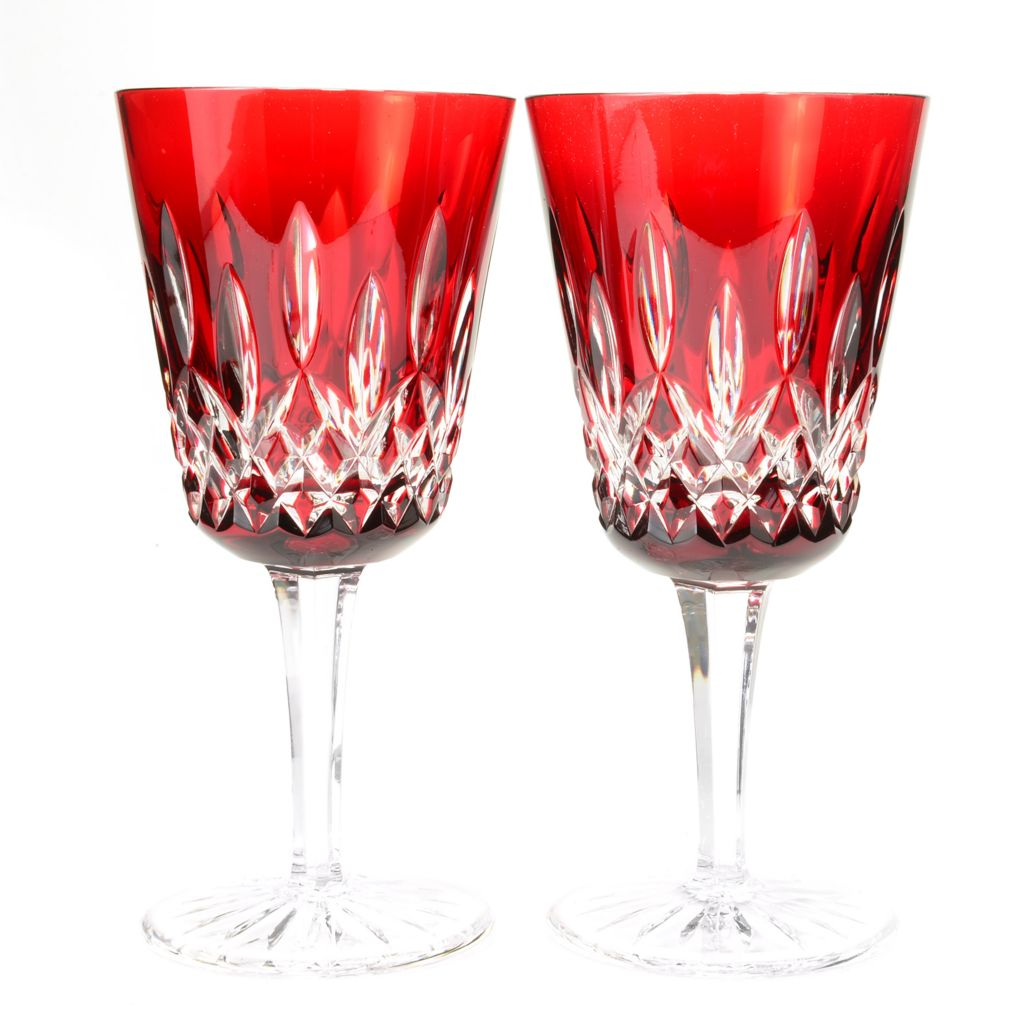450-414 - Waterford® Crystal Lismore Set of Two 8 oz Choice of Color Cased Goblets