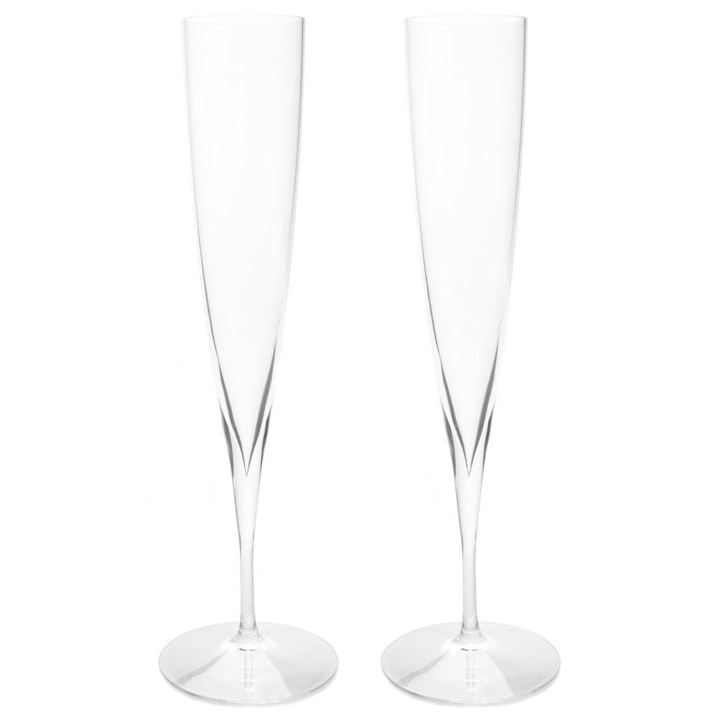 450-415 - Waterford® Elegance Set of 2 6 oz Crystalline Champagne Trumpet Flutes