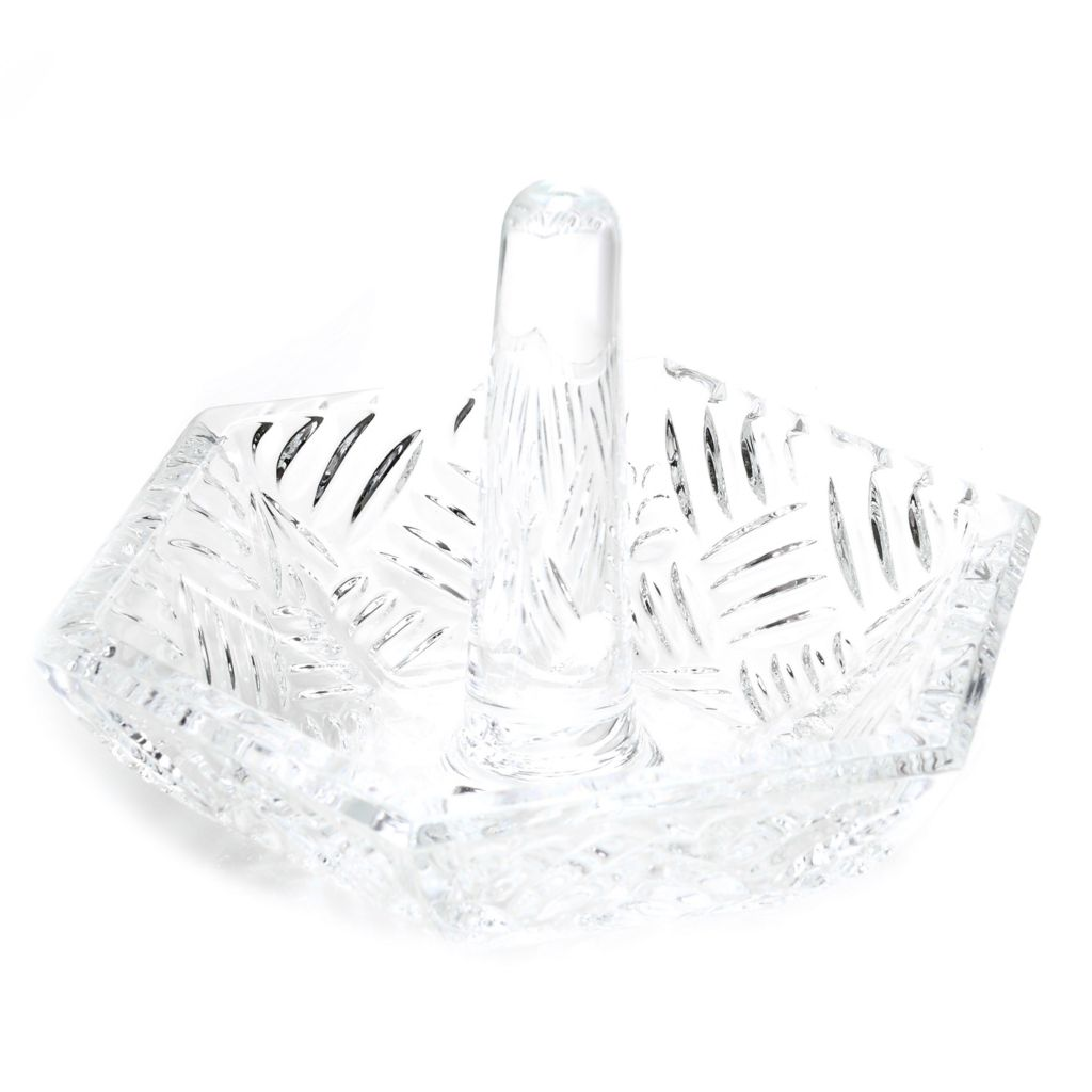 "450-423 - Marquis® by Waterford® Crystal Versa 4"" Wedge-Cut Ring Holder"
