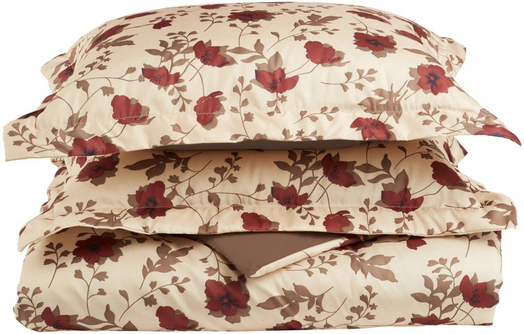 450-471 - 1800 Series by Impressions Microfiber Elm Leaves Three-Piece Duvet Set