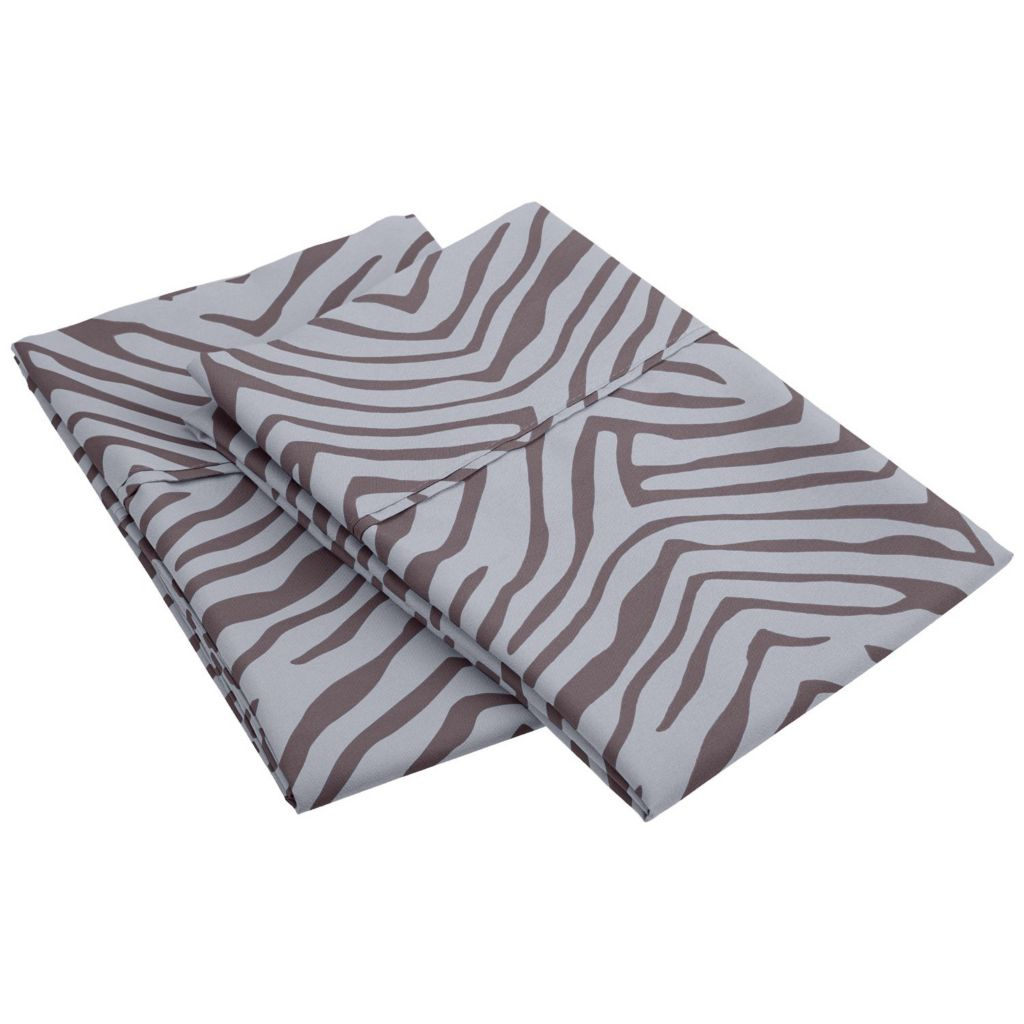 450-476 - 1800 Series by Impressions Microfiber Animal Print Pillowcase Pair