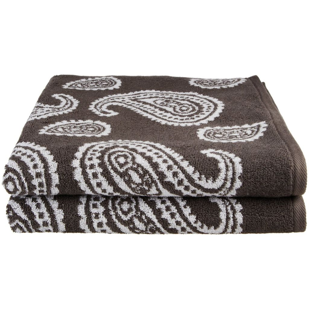 450-479 - Superior Two-Piece 550 GSM Egyptian Cotton Loops Paisley Bath Towel Set