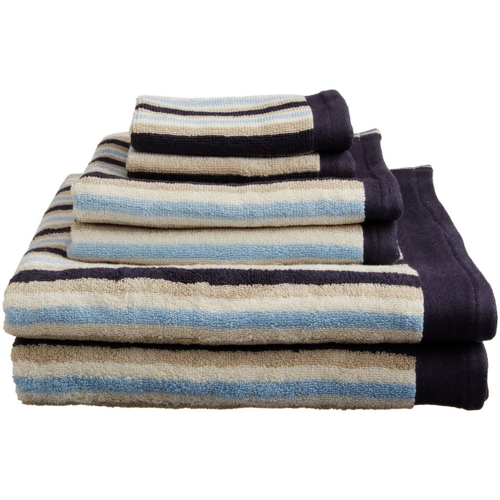 450-480 - Superior Six-Piece 550 GSM Egyptian Cotton Loops Towel Set