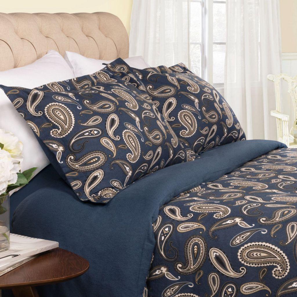 450-484 - Impressions 100% Cotton Flannel Paisley Duvet Cover & Pillowcase Set